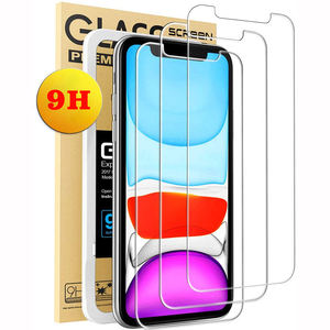 For iphone 11 Screen Protector Film, High Quality Shockproof 9H Tempered Glass Screen Protector for iphone samsung Mobile Phone