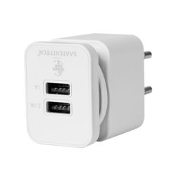 Door use white dual usb travel charger for ipod iphone and ipad