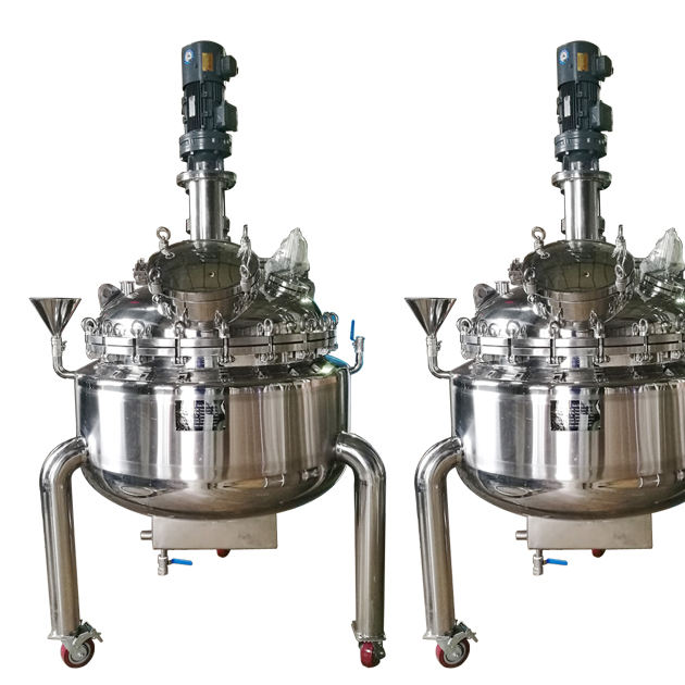 Stainless steel batch chemical reactor vessel mixing tank