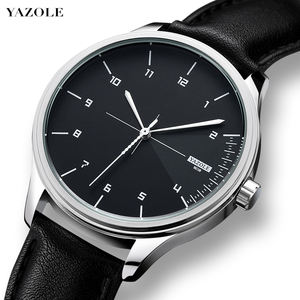 YAZOLE Z 502 Hot sale China Factory Wholesale Simple Mens watch with custom logo reloj quality quartz watches leather wristwatch