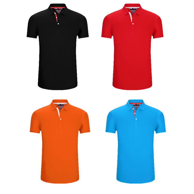custom Promotion fashion famous brand unisex 95% Pearl cotton 5% spandex short sleeve Plain polo t shirt