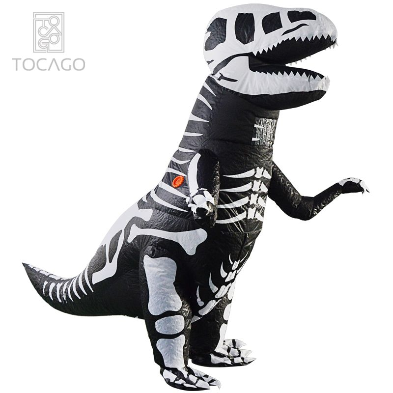 Halloween und Party Spaß <span class=keywords><strong>Outdoor</strong></span> Event Adult Dinosaurier Kostüm aufblasbares Skelett T-Rex Kostüm