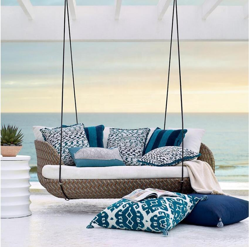 Patio outdoor garden sets hotel pool rattan hanging chair daybed furniture
