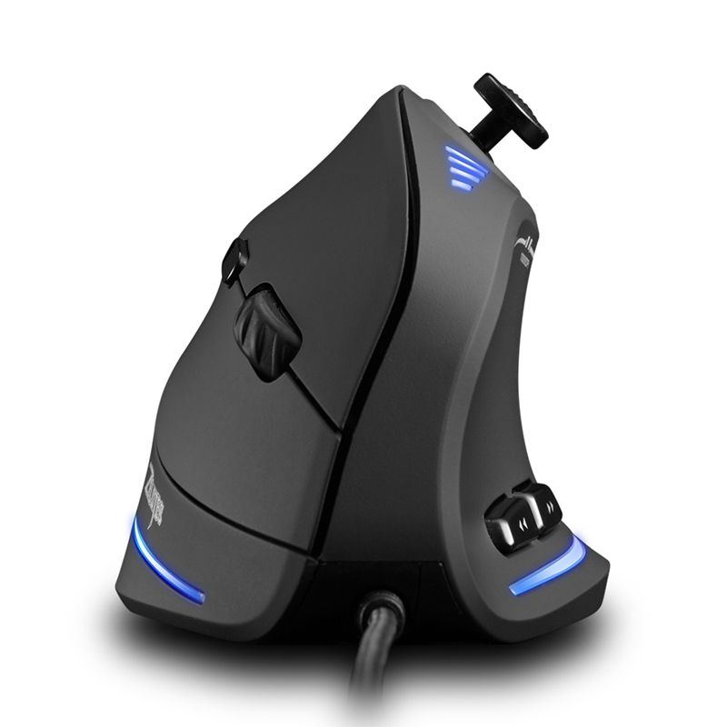 C-18 Amazon Top Seller 11 Buttons Programing Adjustable DPI Wired Vertical Gaming Mouse With Joystick