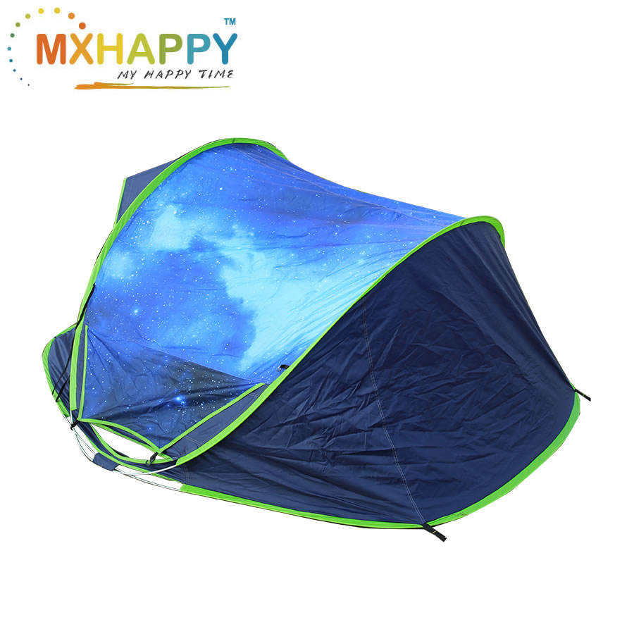 MH120 Outdoor Automatic Camping Tent Double Door Portable Tent 1-2 People Speed Open