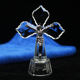 Hot Sale LED Crystal  Jesus Cross Standing Ornament For Christian Gifts