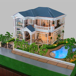 3D Mini architectural model Acrylic glass villa building model for exhibition