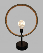 Hemp rope metal collocation, LED home decoration round table lamp