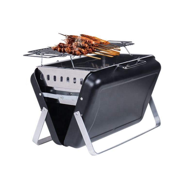 Unique Folding BBQ Grills Easily Assembled BBQ Charcoal Portable Barbecue Grill