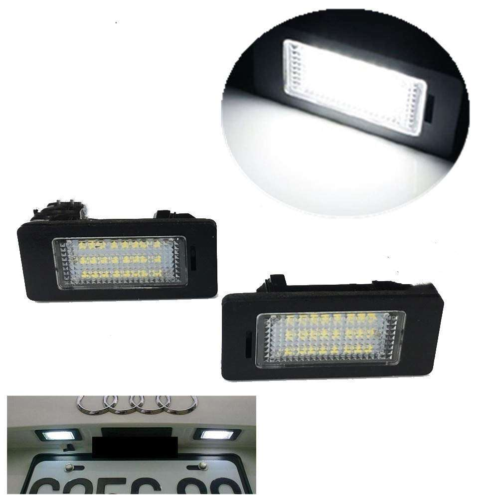 License Plate Light License Tag Lights Xenon White LED Car License Number Plate Lamps For Audi A1 A4 A5 A6 A7 S5 S6 S7 RS4 Q5