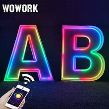 WOWORK Event rental props metal marquee big capital alphabet lights for led wedding party celebration