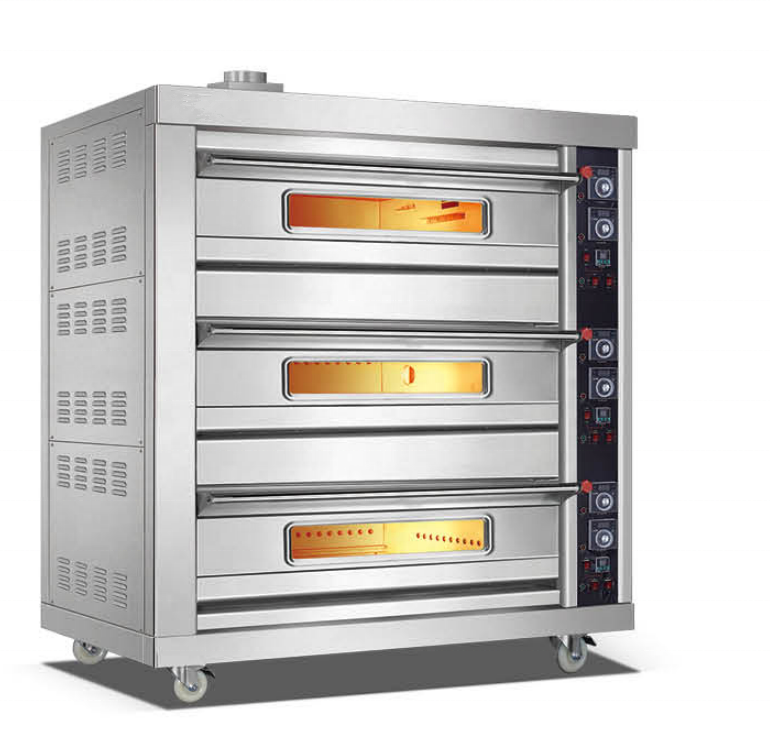 Commercial Equipment Bakery Machine Gas Baking Oven Stainless Steel Baking Pizza Oven