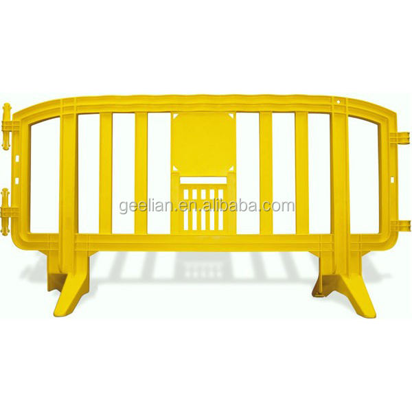 European Standard Safety 2000mm Plastic Movit Parking Road yellow barrier / Plastic Safety Barricade