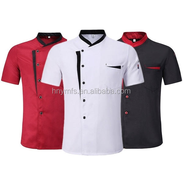 OEM high-quality unisex chef uniforms grey kitchen clothing for the restaurant 100% cotton