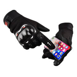 Factory Touchscreen Full Finger Knuckle Protection Anti Slip Motorcycle Racing Gloves
