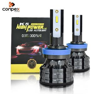 Conpex K5 Oem Built-in Fan Cooling Universal Led Headlights 25W Auto Lighting System Mini Rohs Csp H11 Car Led Headlight