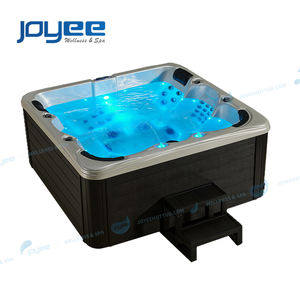 JOYEE 6 person cheap price widen sexy massage transparent glass acrylic spa jet whirlpool hot tub with air bubbles