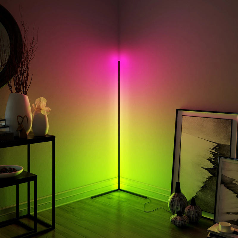 Dimmable Floor Lamp Modern RGB Remote Control LED Floor Standing Lamp Corner Light