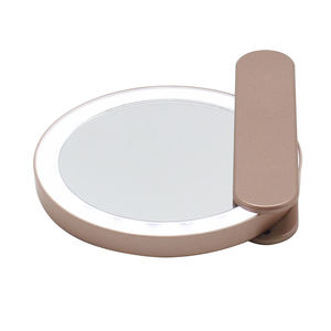 2020 NEW! Delicate Private Label Hand Hold Cosmetic Mirror Handle And Portable Pocket LED Lighted Mirror