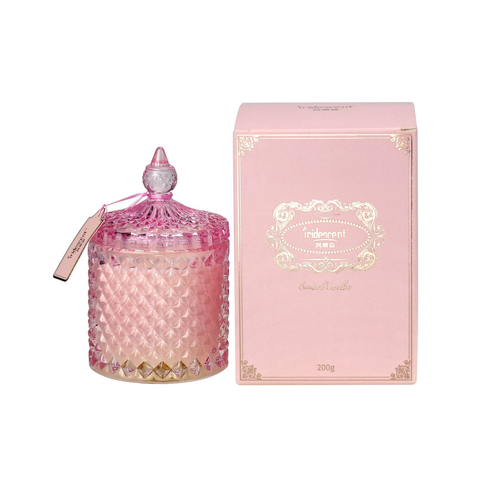 the largest pillar candles beautifully crafted luxury candle done lid pink girlish glass candle
