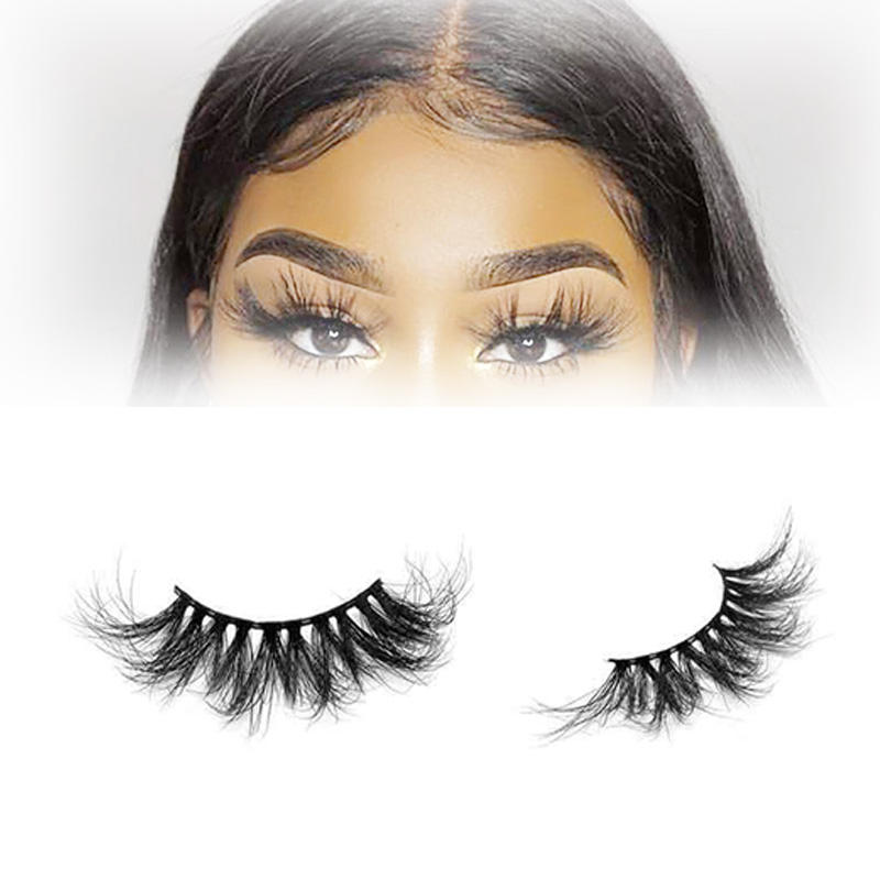 Mink Lashes Vendor OEM 7D Volume Eyelash Strip Galmour 25mm Mink Eyelashes
