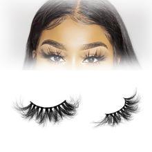 Mink Lashes Vendor OEM  7D Volume Eyelash Strip Galmour 25mm Mink Eyelashes