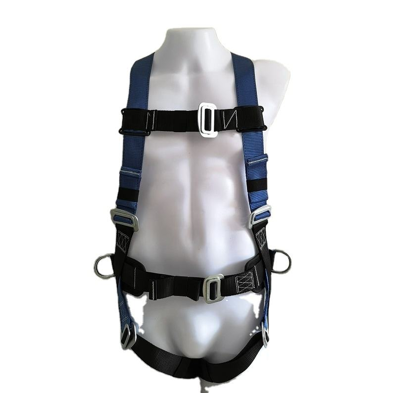 high quality cheap price polyester 3D rings full body safety harness belt with soft back support