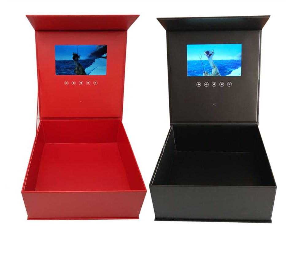 Lcd 7 inch screen video box gift with autoplaying switch / video gift box