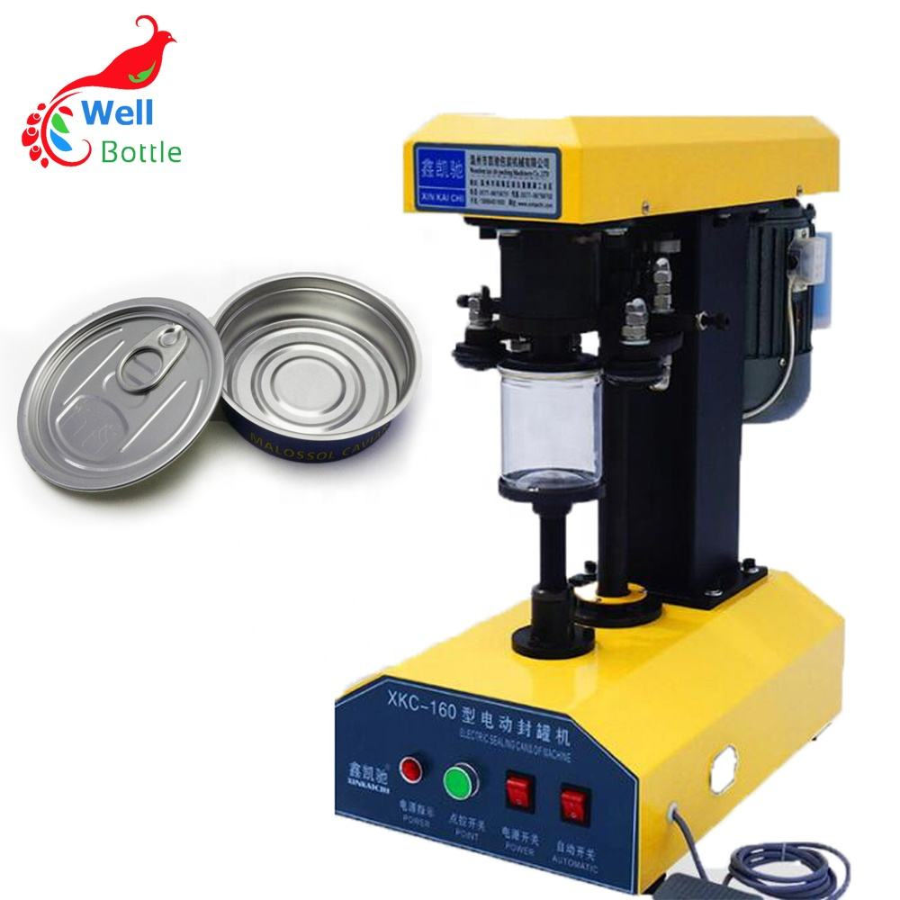 100% warranty can sealing machine/tin can plastic jar/aluminum can seaming machine sm001E