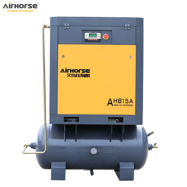 Airhorse 7Hp 10Hp 15Hp 20Hp stationary compressor with tank and dryer electric screw air compressor price list