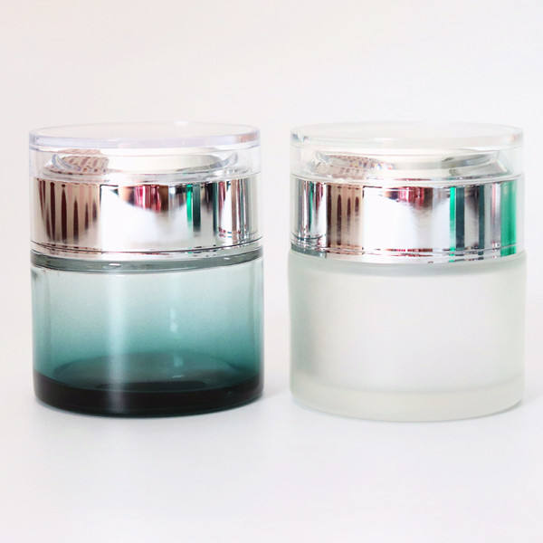 Beauty Cosmetics packaging empty packaging serum glass 1oz 2oz cosmetic jar