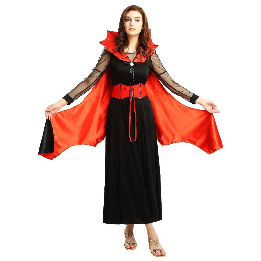 Personalizza Fancy Dress Nero Cosplay Outfit Ragazze Wicked Halloween Spider Witch Costume