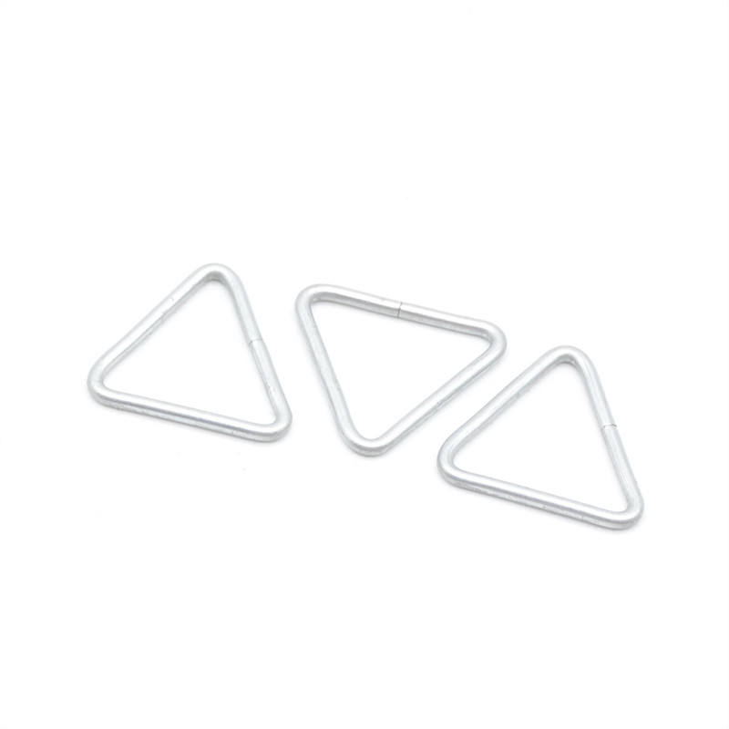 Stainless steel triangle fitting triangle spring ring closed delta rivet for bags