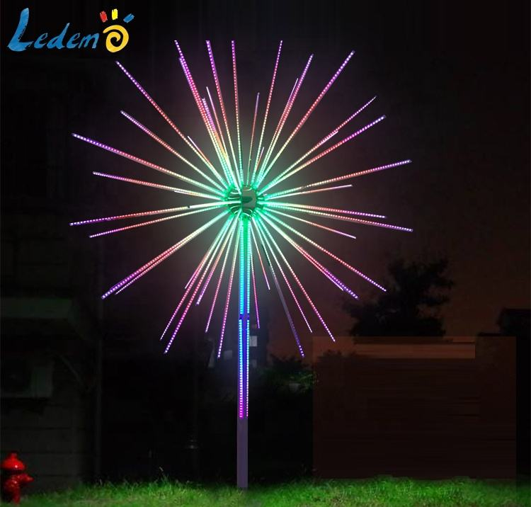 2020 New model LED Christmas Holiday Decoration Fireworks Light Digital Fireworks Meteor Light