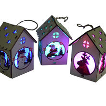 Christmas Halloween birthday gift ideas Colorful LED cabin shaped lights