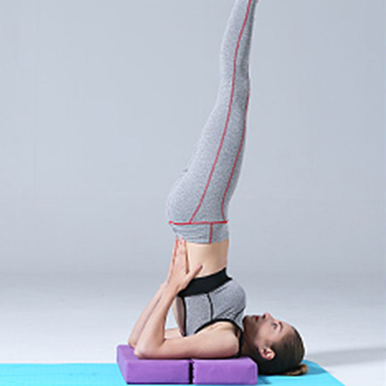 Top 10 Selling Products Wholesale Yoga Bolster Auxiliary Shoulder Stand, Amazon Top Seller 2019 Yoga Bolster Meditation Foldable