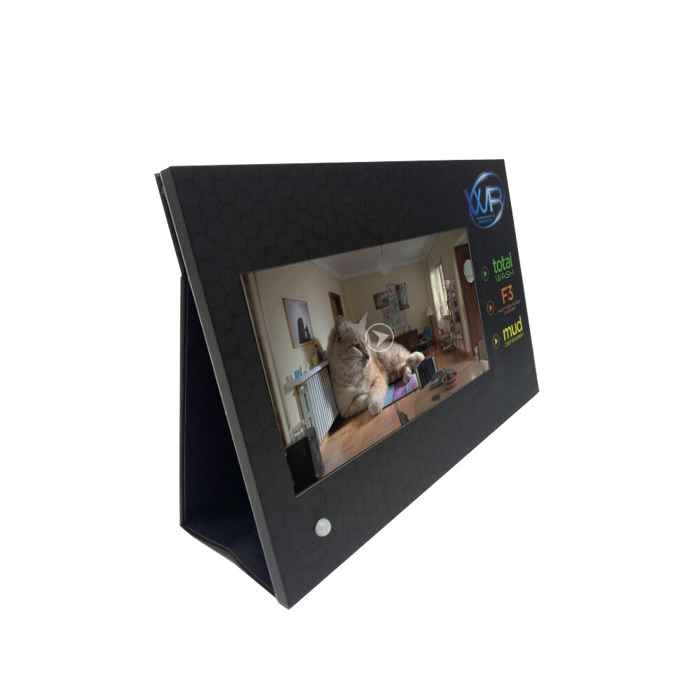 Custom 15.6 Inch Table Top Pop Up Cardboard With Lcd Video Player Pos Video Display In Store