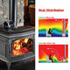 Heat Stove Black Heat Powered Wood Burning Gas Stove Top Silent Eco Friendly Warm Air Fan