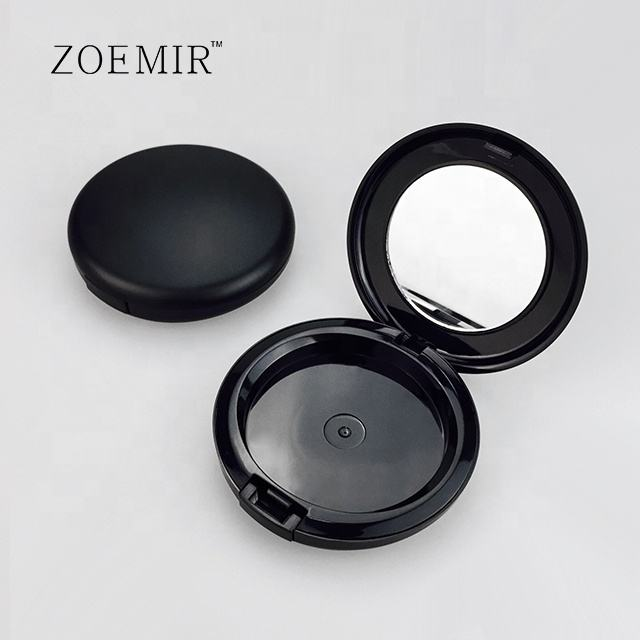 Hot sale highlighter makeup puff powder compact case cosmetic pressed powder compact case