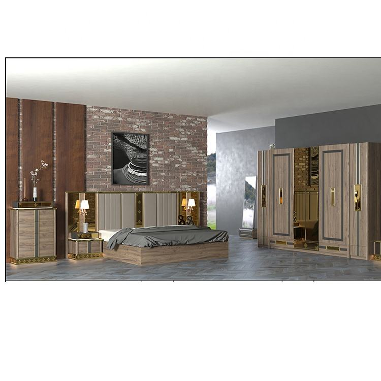 Modern Melamine Bedroom Suites Laminate Board Bedroom Set Furniture