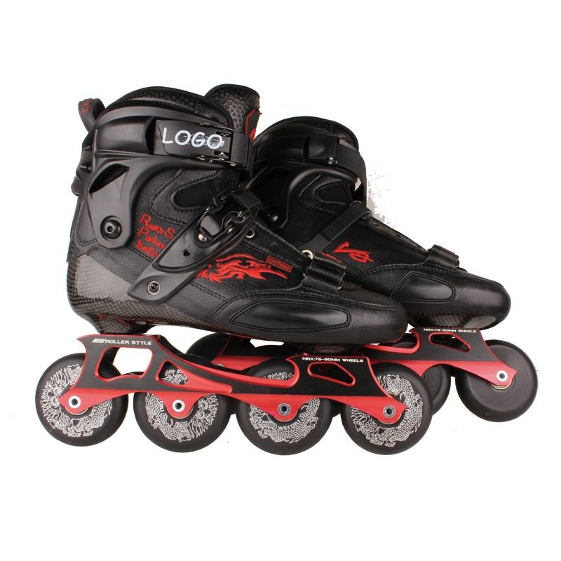 Adult Roller Inline Carbon Freestyle Speed Skate