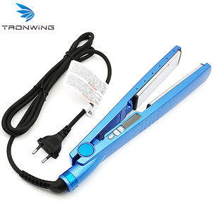 In stock easy to use professional steam styler ceramic hair straightener mini flat iron hair straightener