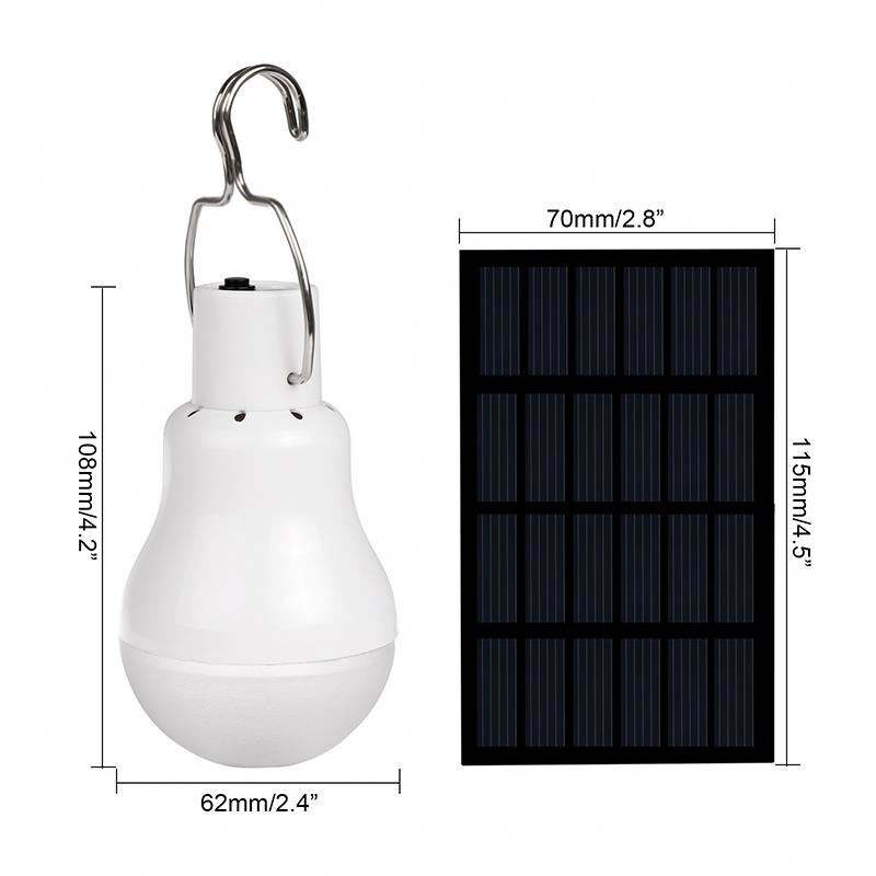 12W NEW Solar LED Camping Tent Light Rechargeable Night Lamp Lantern for Outdoor Hiking Cool White