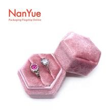Velvet ring box color customization wholesale