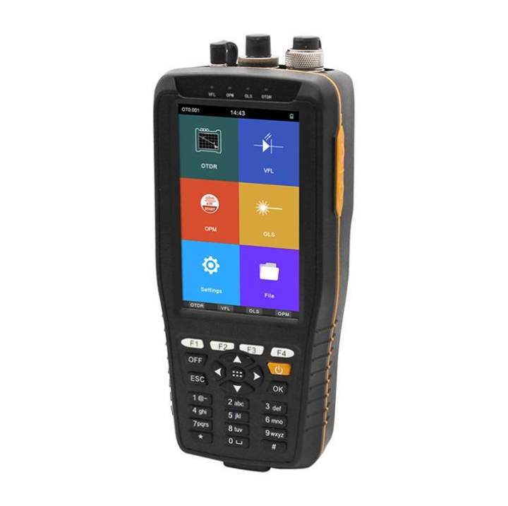 Touch Screen 60KM Handy Fiber Optic OTDR Tester 1310 1550nm 22 20dB Built in VFL Optical Power Meter Light Source TM290