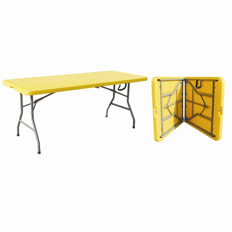 hotsale portable 6ft 72inch rectangle plastic outdoor camping picnic folding tables with locking