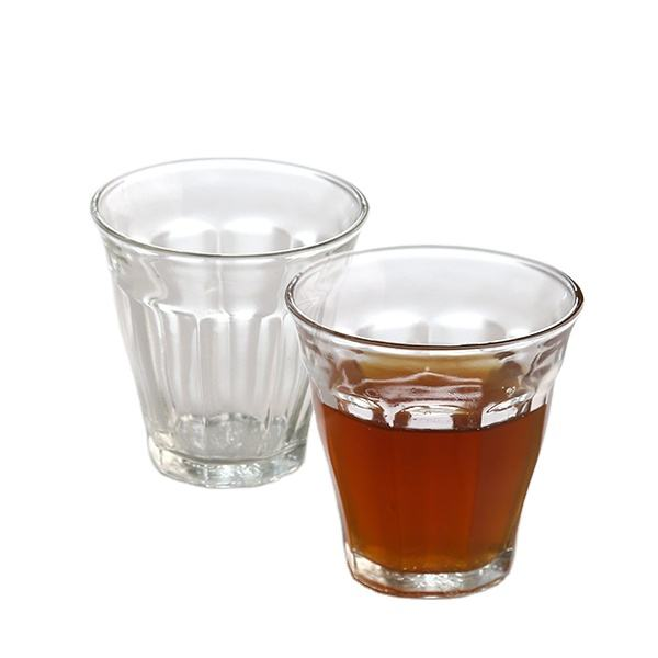 Wholesale Cheap High Glass Drinking Tea Cups Glass Tumbler For Drinking Lotus Shape Tea Glass Cup