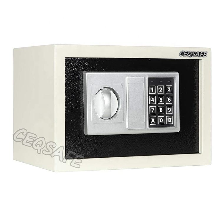 Portable Bank Fireproof 17e Malaysia Timed With Key Cabinet Deposit In Wallet Combination Lock Safebox Safety Mini Safe Box