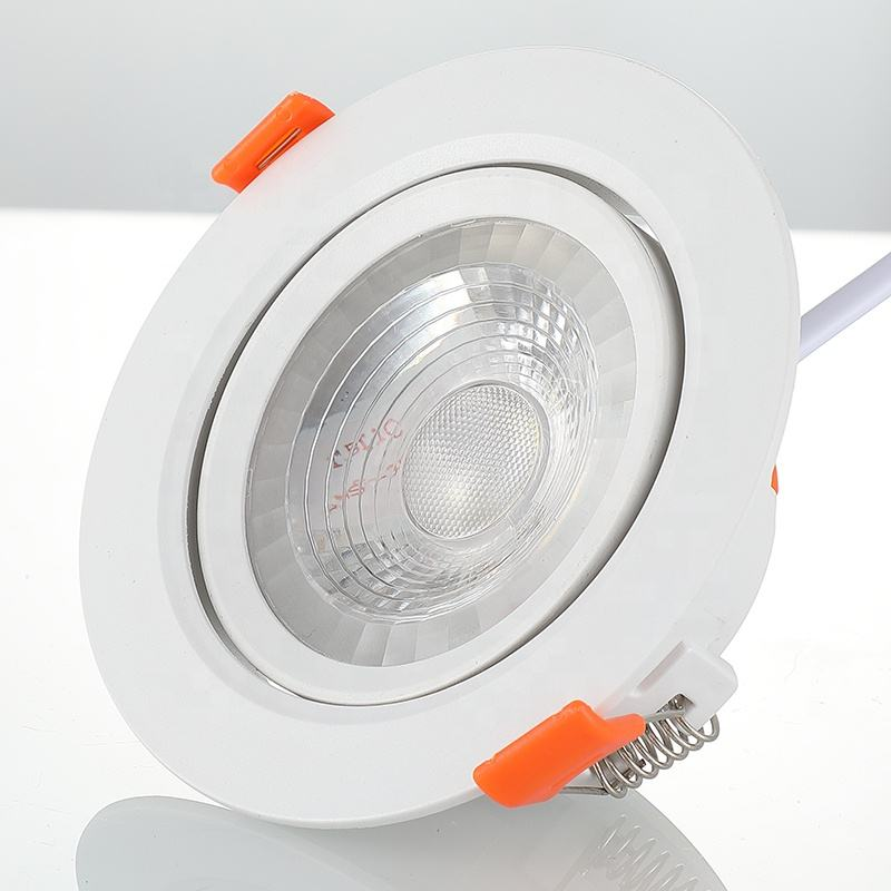 Adjustable focus cob 70mm cutout 6w high power square spot ceiling 50mm cut out 6w led downlight