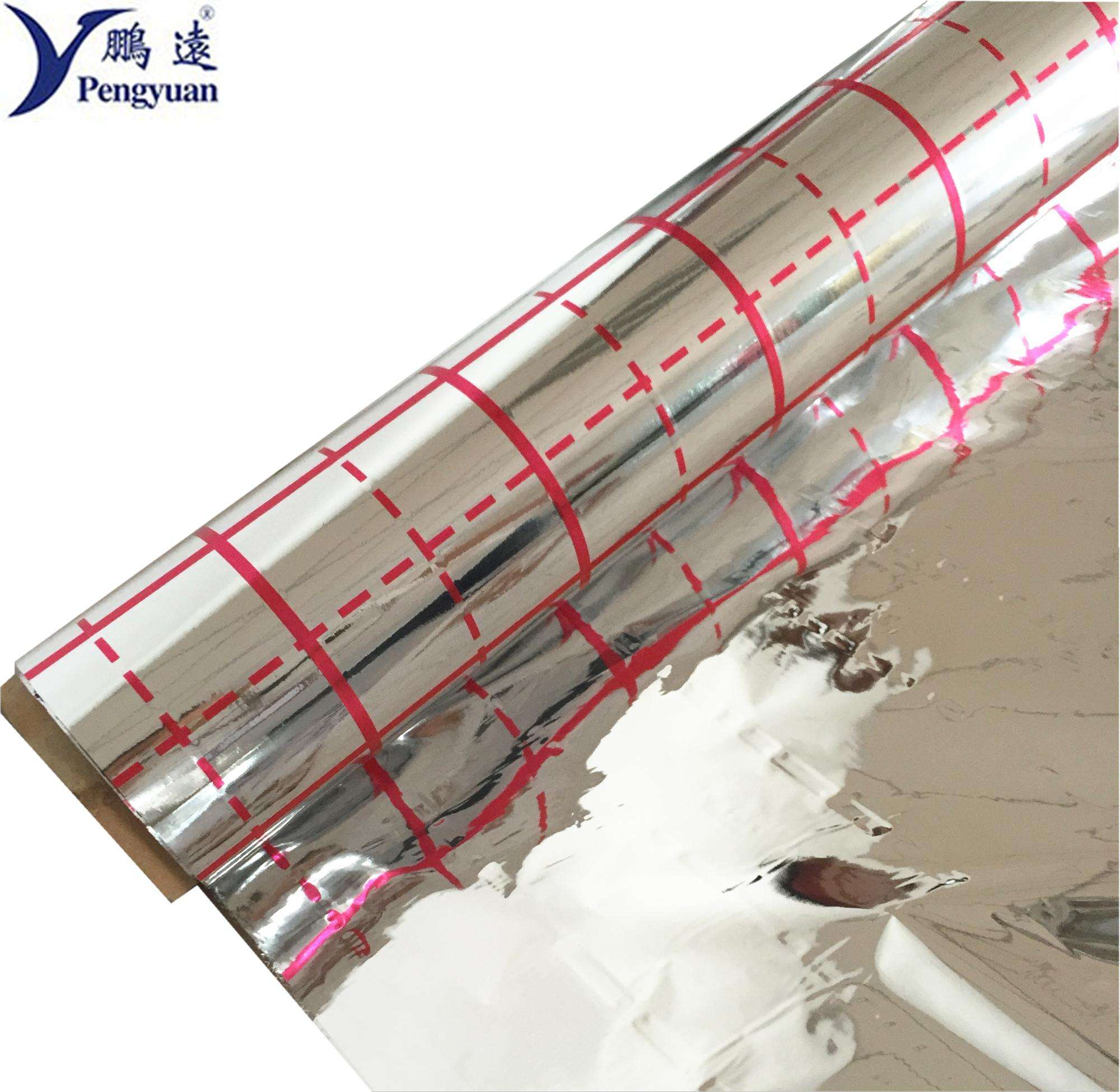 Metalized PET film for Building Insulation material